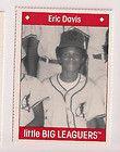 Eric Davis Cincinnati Reds San Francisco Giants LA CA Childhood Baseball card