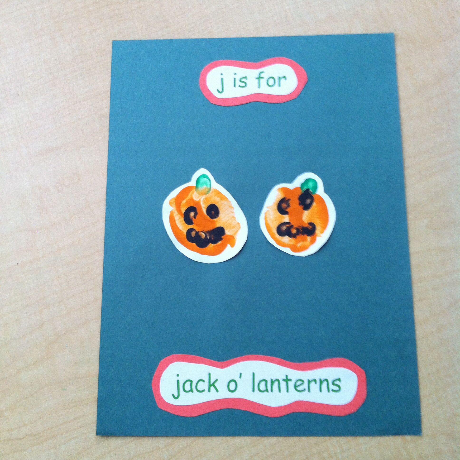 J Is For Jack O Lantern Handprint Pic