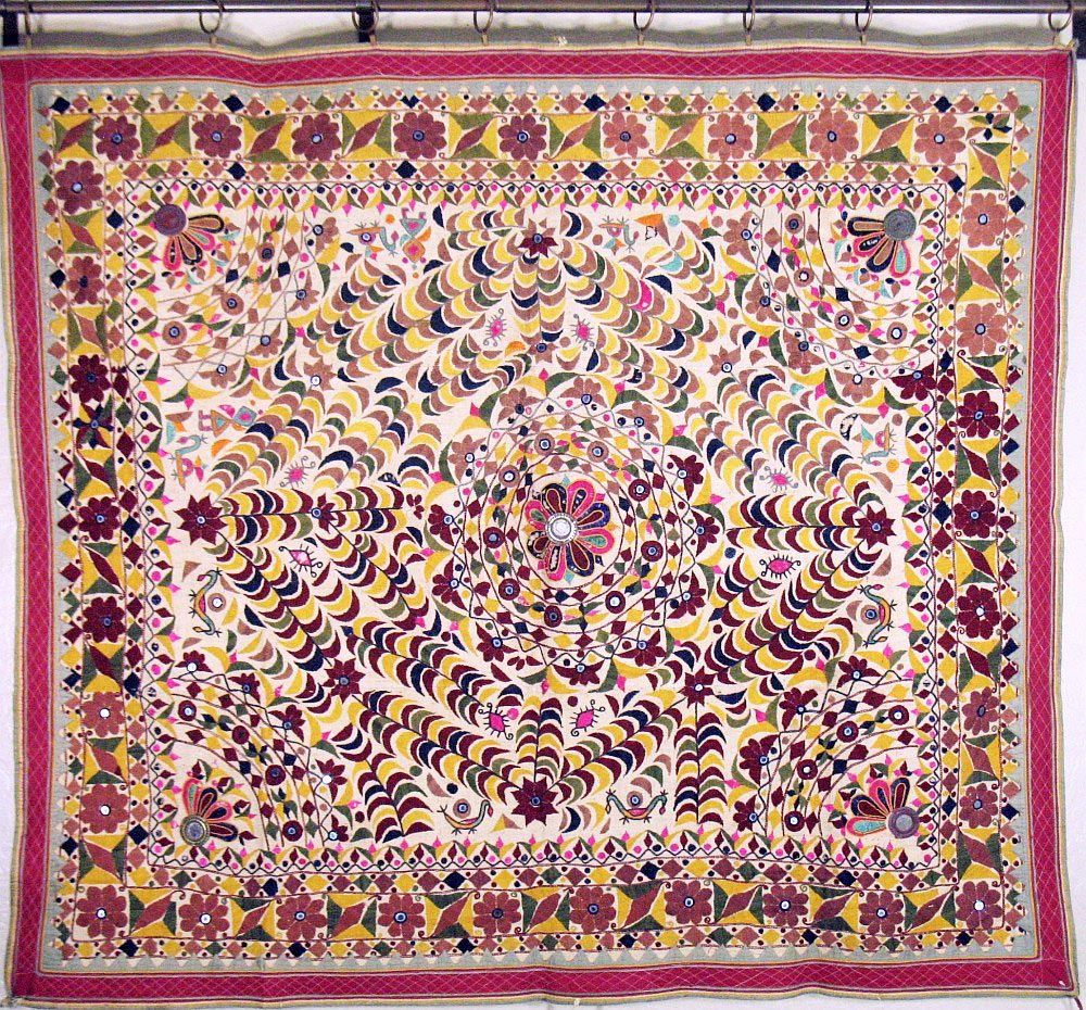 indian silk tapestry wall hanging