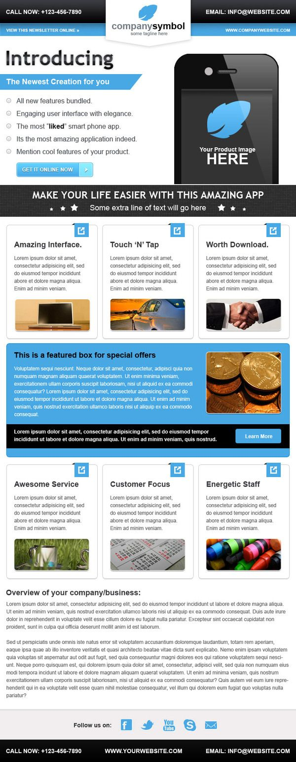 Business email newsletter template get inspired pinterest business email newsletter template cheaphphosting Gallery