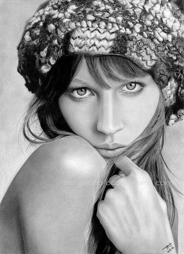 Incredible realistic portrait pencil drawings by dA artist Bereaved.