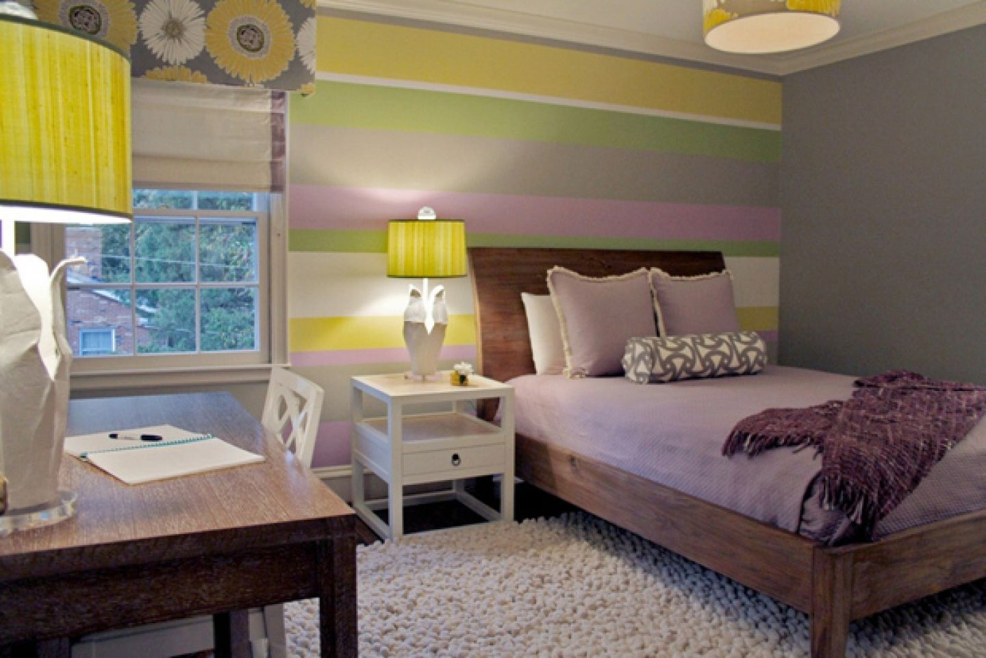 Bedroom colors grey purple - Delightful Smart Teen Bedroom Idea Gray Grey Purple Green Yellow Listed In