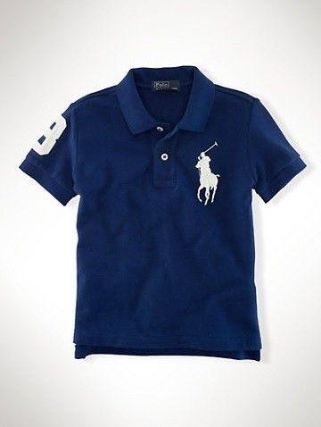 74e64b2ee0 Polo Ralph Lauren Infantil Camisa Polo Big Pony Azul Marinho