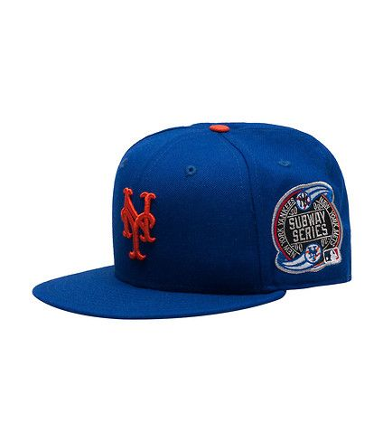 576f1d98 NEW ERA MENS NY METS MLB SUBWAY SERIES FITTED CAP Blue | Hats in ...