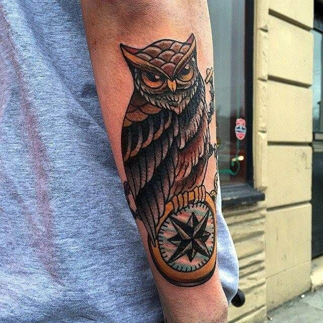12+ American Traditional Owl Tattoo Designs in 2020 ...