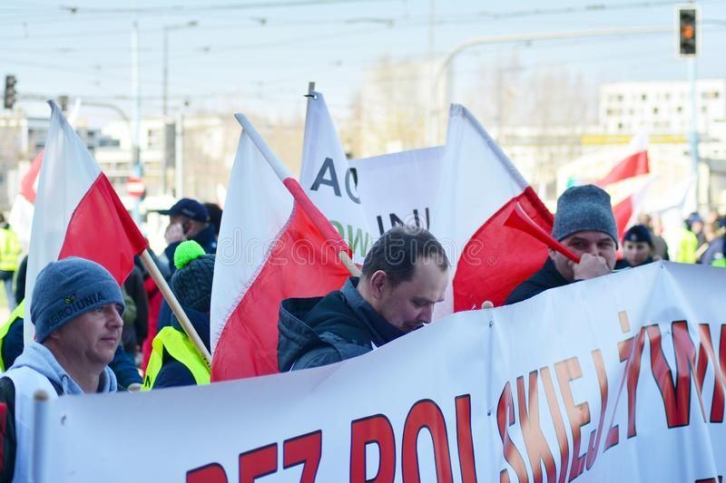 Farmers Of The Agrounia Union Organised Demonstration At The Artur Zawisza Squar Aff Organised Demonstratio Image Photography Warsaw Poland Organization