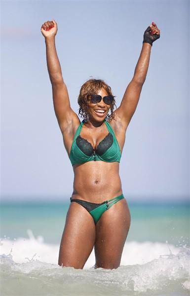 831faf3b82 Serena Williams green bikini - Serena Williams  best bikini moments