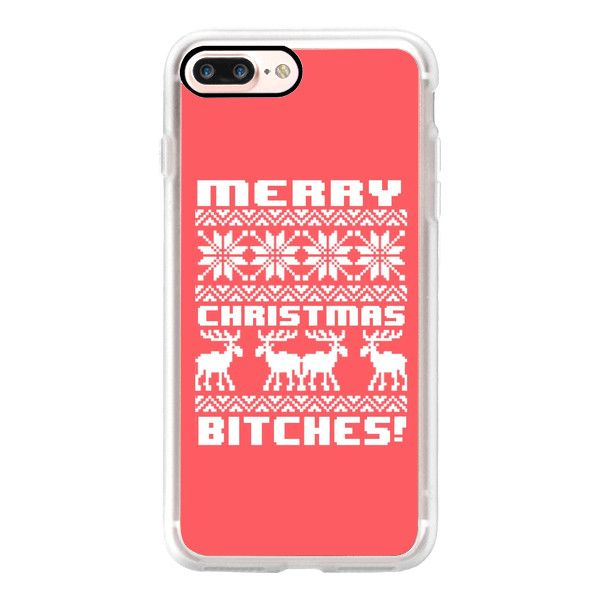 Merry Christmas Bitches 8-Bit Nintendo Red Vintage Ugly Holiday... (335 NOK) ❤ liked on Polyvore featuring accessories, tech accessories, iphone case, iphone cases, apple iphone case, slim iphone case, vintage iphone case and red iphone case