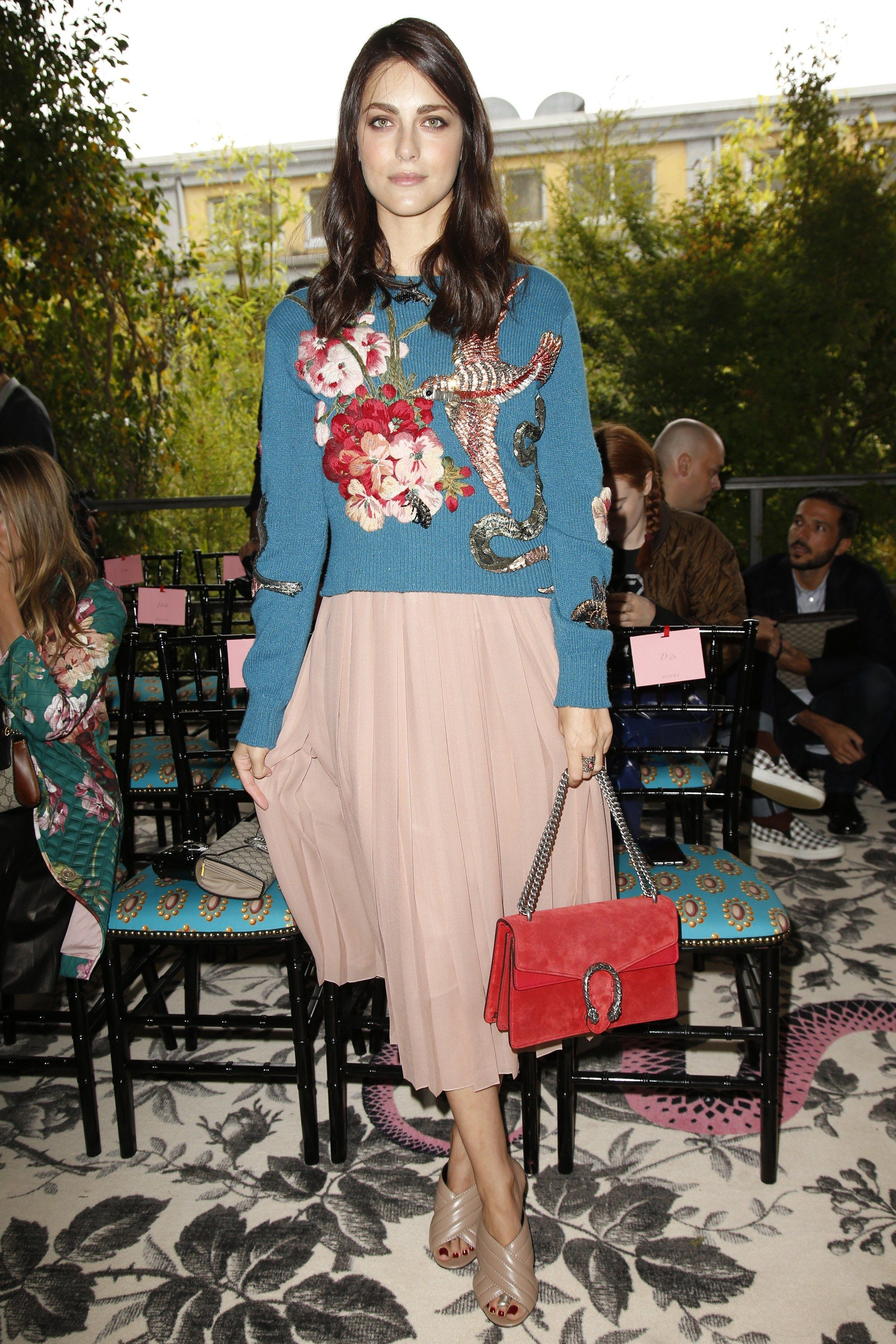 Gucci Spring 2016 Ready-to-Wear Front Row Celebrity Photos - Vogue