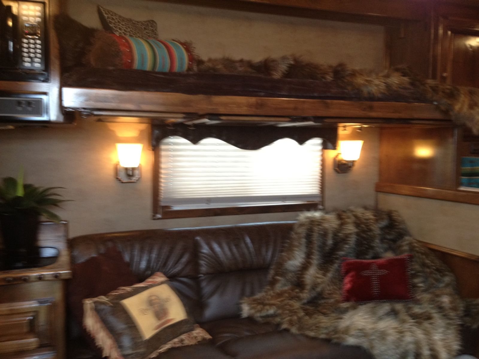 New interior w bunk above couch. Www
