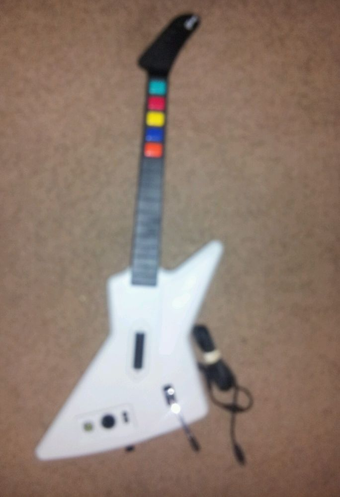 Guitar Hero Xbox 360 Gibson X-Plorer Explorer Red Octane Wired