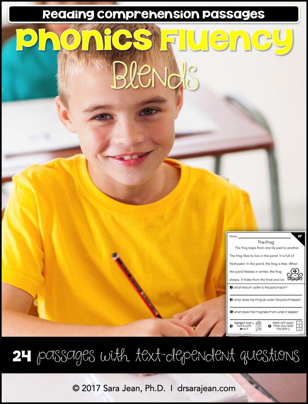 Blends Worksheets Phonics Fluency Passages Reading