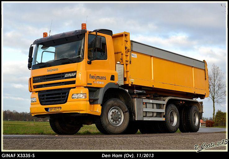 Ginaf X 3335 S 6x6 kippertruck van Heijmans