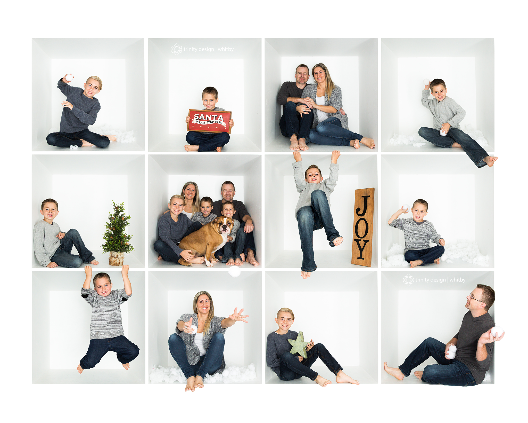Christmas White Box Collage Copyright Trinity Design Photography