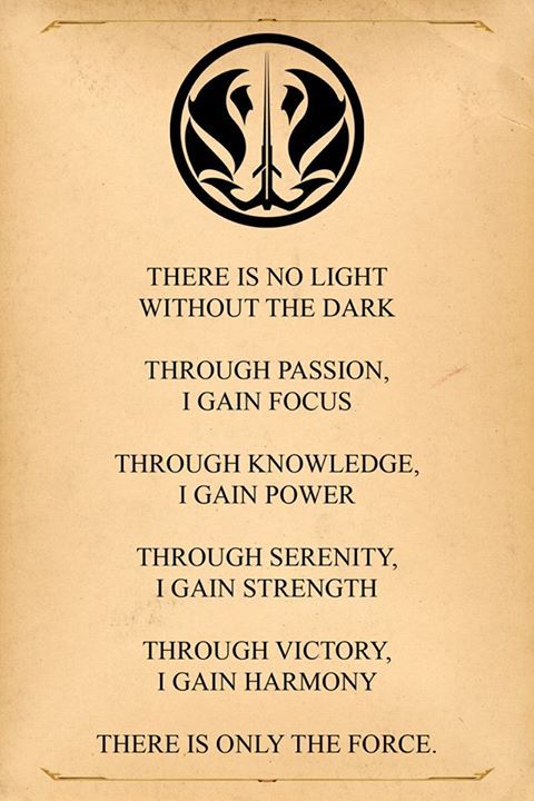 Grey Jedi Code Post Star Wars Quotes Star Wars Tattoo Jedi Code