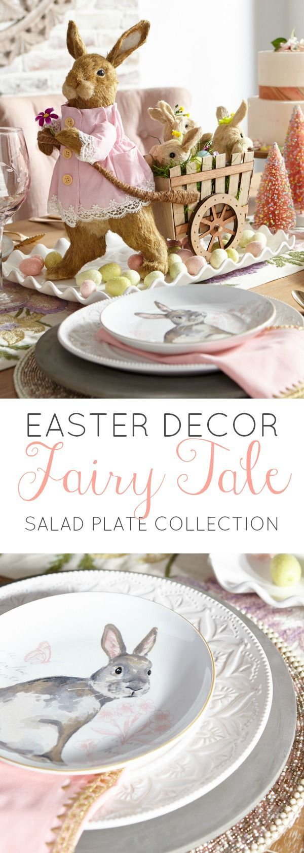 Easter Salad Plate Set Fairy Tale Collection #dinnerware #tablesetting #tabledecor #spring # : easter plates dinnerware - pezcame.com