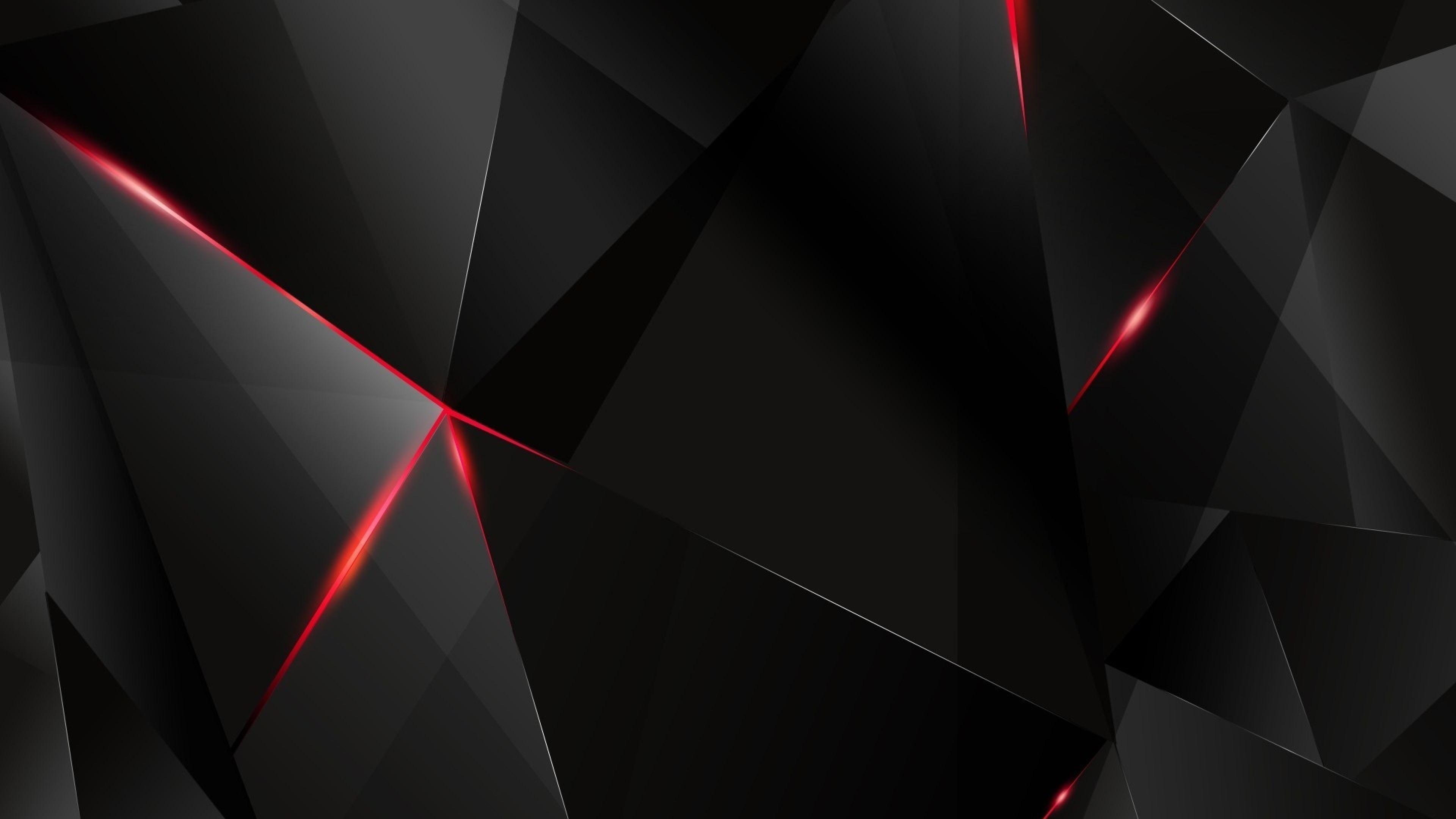 Download Wallpaper 3840x2160 Black, Light, Dark, Figures 4K Ultra ... | vv in 2019 | Black ...