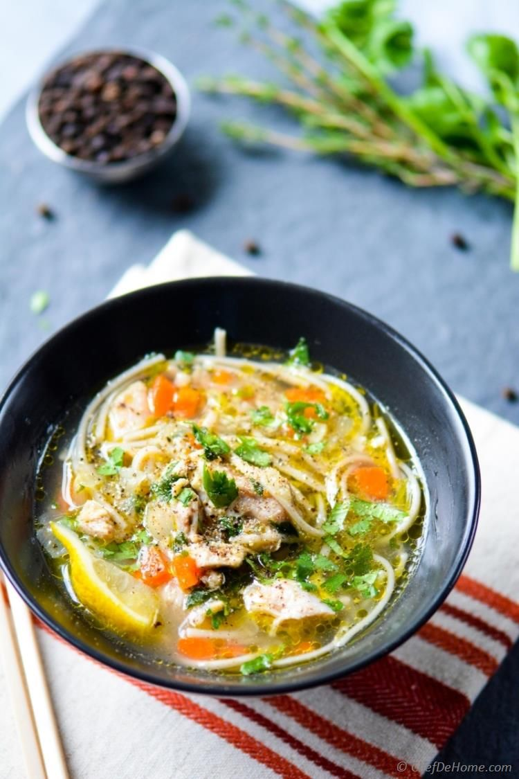 Gluten Free Chicken Noodle Soup in 20 minutes in a