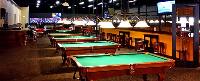 1 2 Wall Adds Seating Near Pool Tables And Place To Set Food Drink Pool Table Coffee Shop Hotel