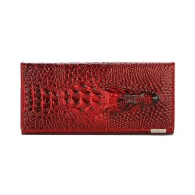 Herald Fashion Women Wallet Crocodile Head PU Leather Wallet Women Purse 3Dintothea #leatherwallets