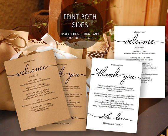 Printable Wedding Itinerary Template Wedding Weekend Cocktail - wedding weekend itinerary template