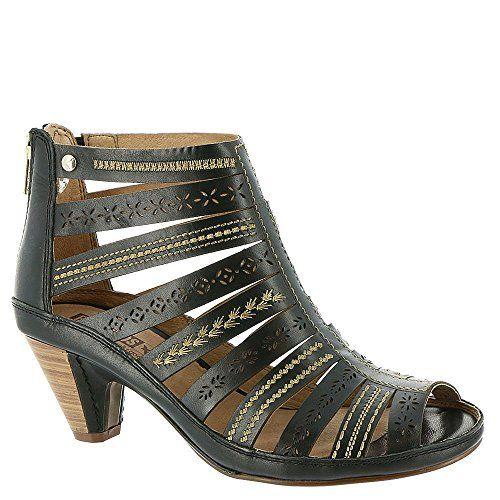 Pikolinos Women's Java Sandal W5A-8504,Black Leather,EU ...