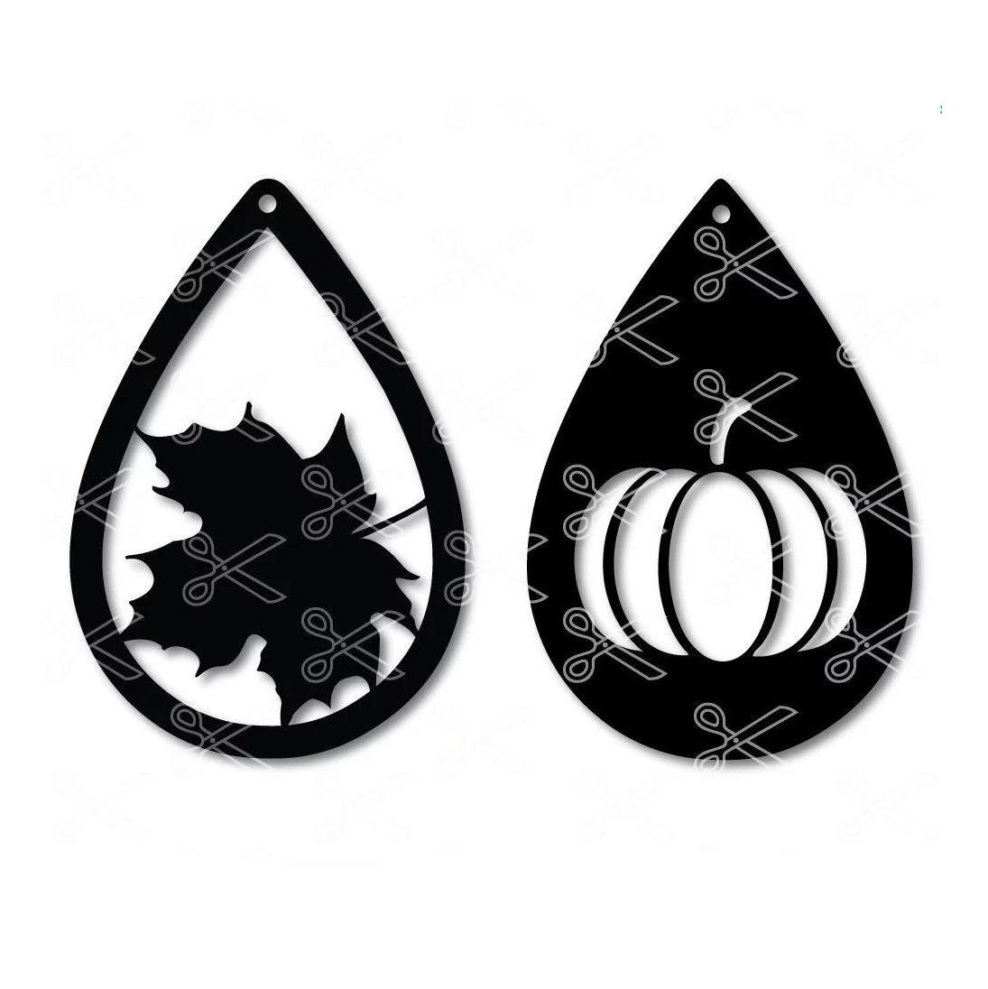 Fall Teardrop Earring Svg Dxf Diy Teardrop Earrings