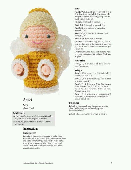 Angel amigurumi | BRICOLAGE NAVIDEÑO | Pinterest | Bricolage ...