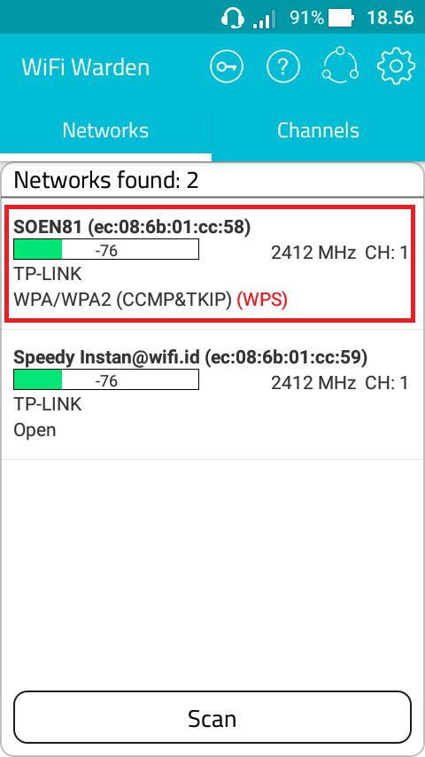 Cara hack wifi dengan aplikasi Wifi Warden terbaru | android | Wifi