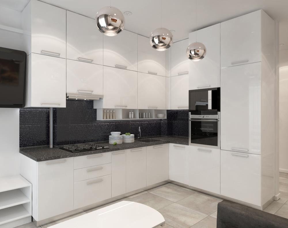 белая глянцевая кухня фото дизайн