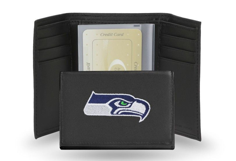 a6a1c29f Seattle seahawks embroidery trifold | WhereTheFansShop.com | Leather ...