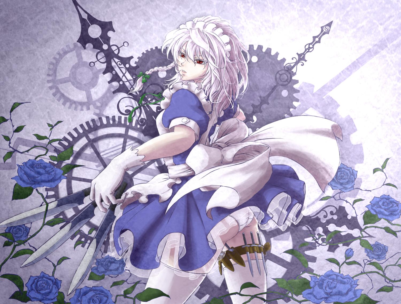 薔薇と刃物とメイド長 touhou sakuya izayoi イラスト 咲夜 十六夜咲夜