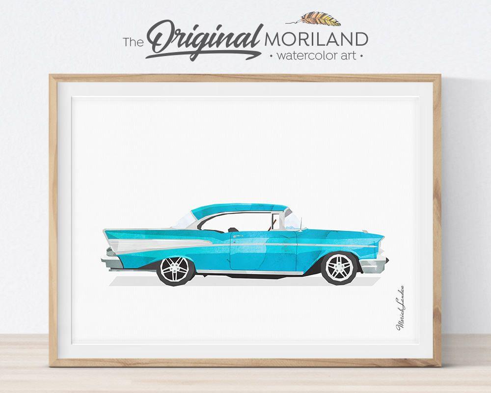 Car Print, Classic Car Wall Art, Transportation Print ...