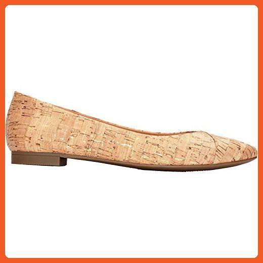 VIONIC Womens Caballo Ballet Flat Gold Cork Size 6 4WsW2cGmts
