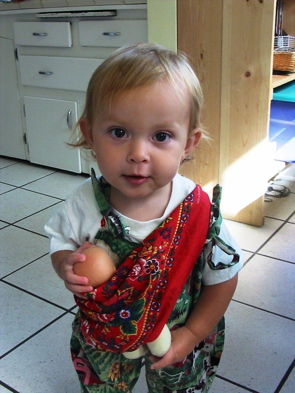 Baby wearing baby dolls