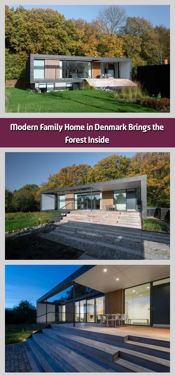 Modern Family Home in Denmark Brings the Forest Inside -   Backing toa forest... - #backing #brings #denmark #family #forest #inside #modern - #DenmarkArchitecture