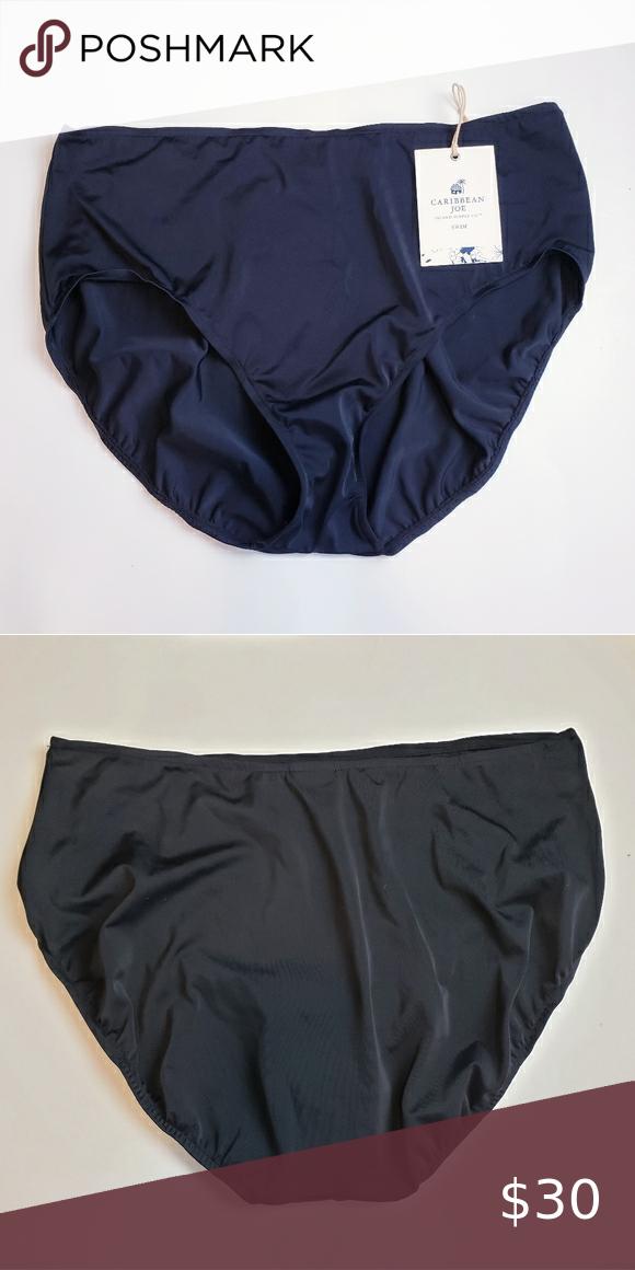 Caribbean joe black swim bikini bottom
