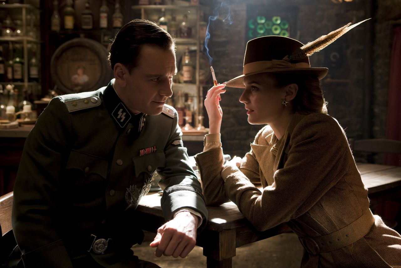 """wandrlust: """" Inglourious Basterds (Quentin Tarantino, 2009) """" Michael Fassbender's performance as Lt. Archie Hilcox is layered with irony due to his real life. Fassbender was born in Germany to German..."""