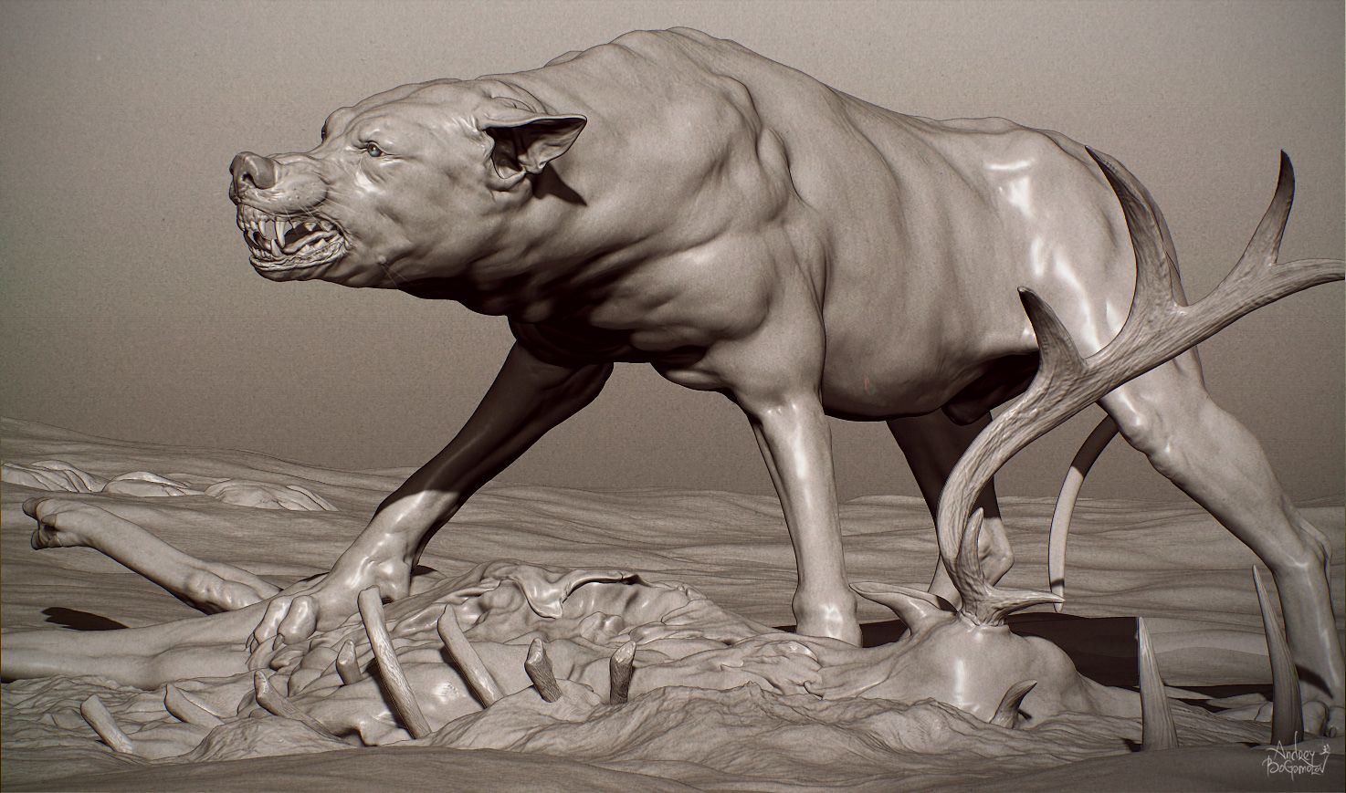 http://www.zbrushcentral.com/showthread.php?166367 #wolf #cg #animal ...
