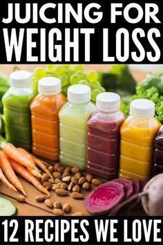 12 Delicious Juicing Recipes for Weight Loss - Meraki Lane #healthyjuicerecipes