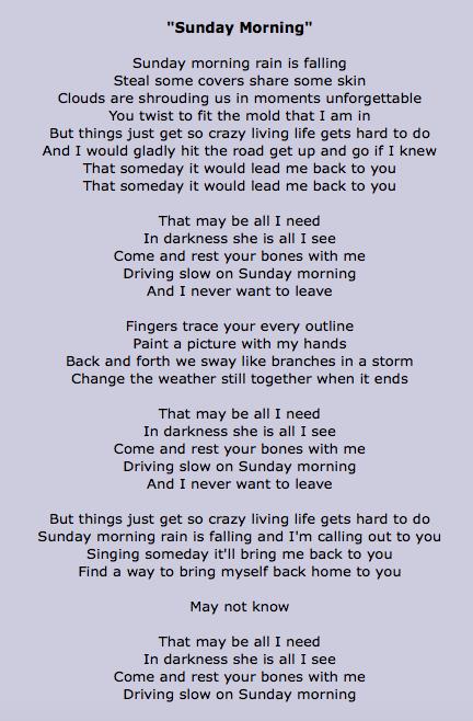 Sunday Morning Lyrics Good Morning Prayer Sunday Lyrics Morning Poem