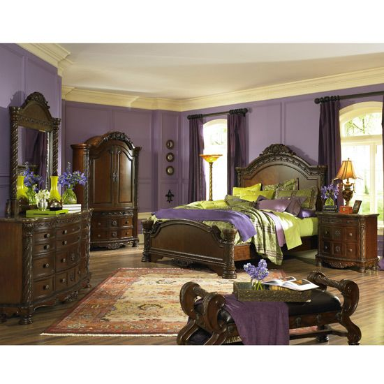 Ashley Furniture Industry: North Shore Panel Bedroom Set - Love The Color.