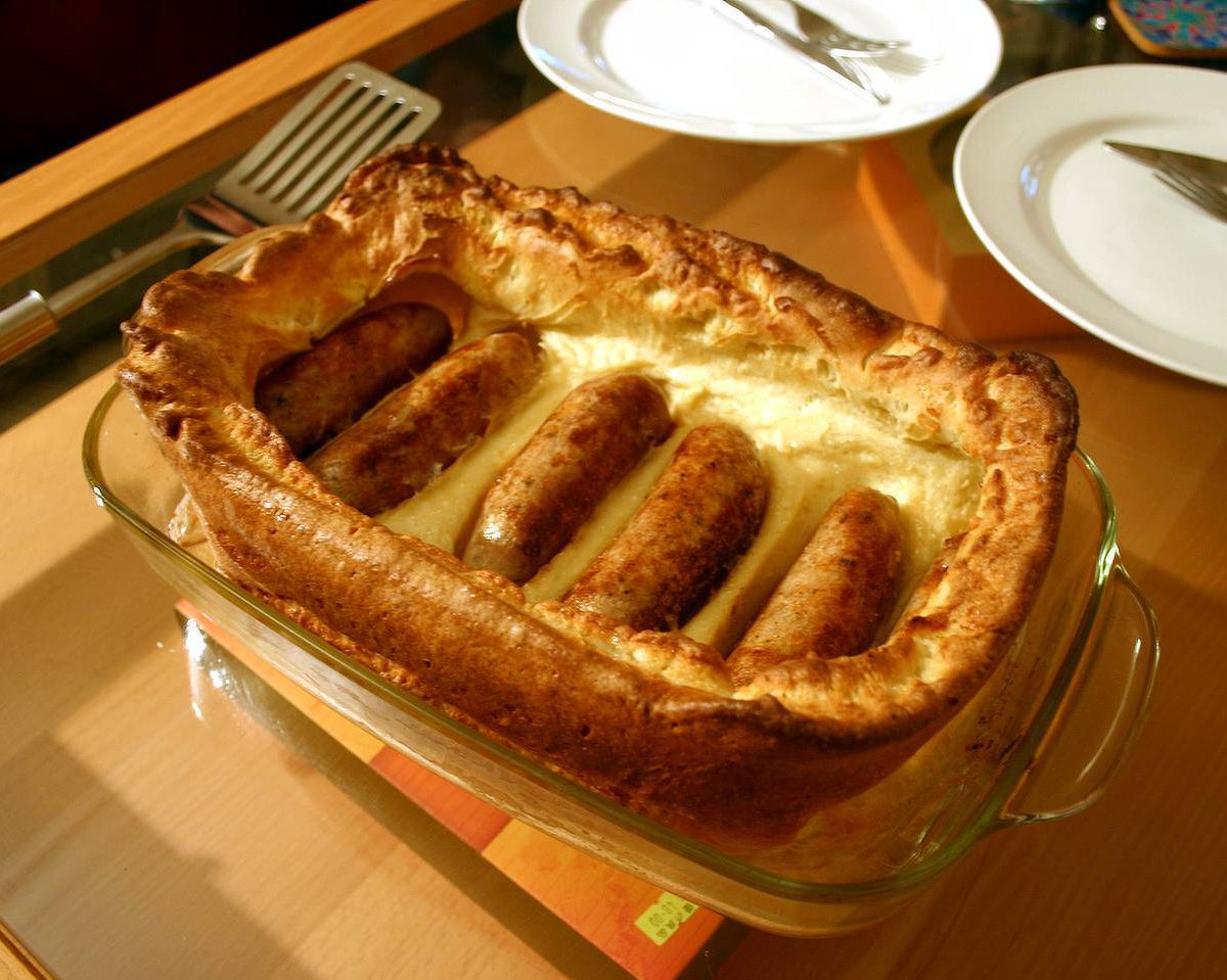 Toadinthehole, a classic British dish. You can use