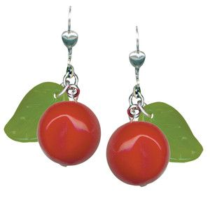 Cherry Earrings Red, $28, now featured on Fab.