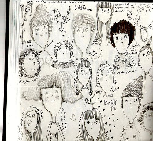 Sketchbook assignment...20 faces