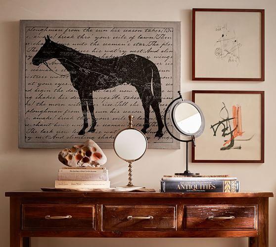 Dresser top mirrors pottery barn decorating kids roomsequestrian decorequestrian stylehorse printthe horsethe keyscanvas wall