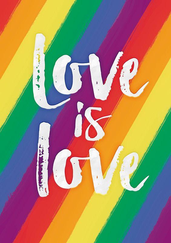 U0027Love Is Love   Rainbow Flag Prideu0027 Poster By RedHillPrints