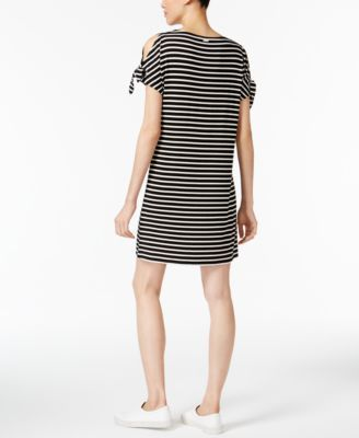 Calvin Klein Split-Sleeve T-Shirt Dress - Black XL