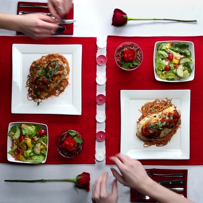 this healthy chicken parmesan dinner for two is what you need for valentine 39 s day quick yummy. Black Bedroom Furniture Sets. Home Design Ideas