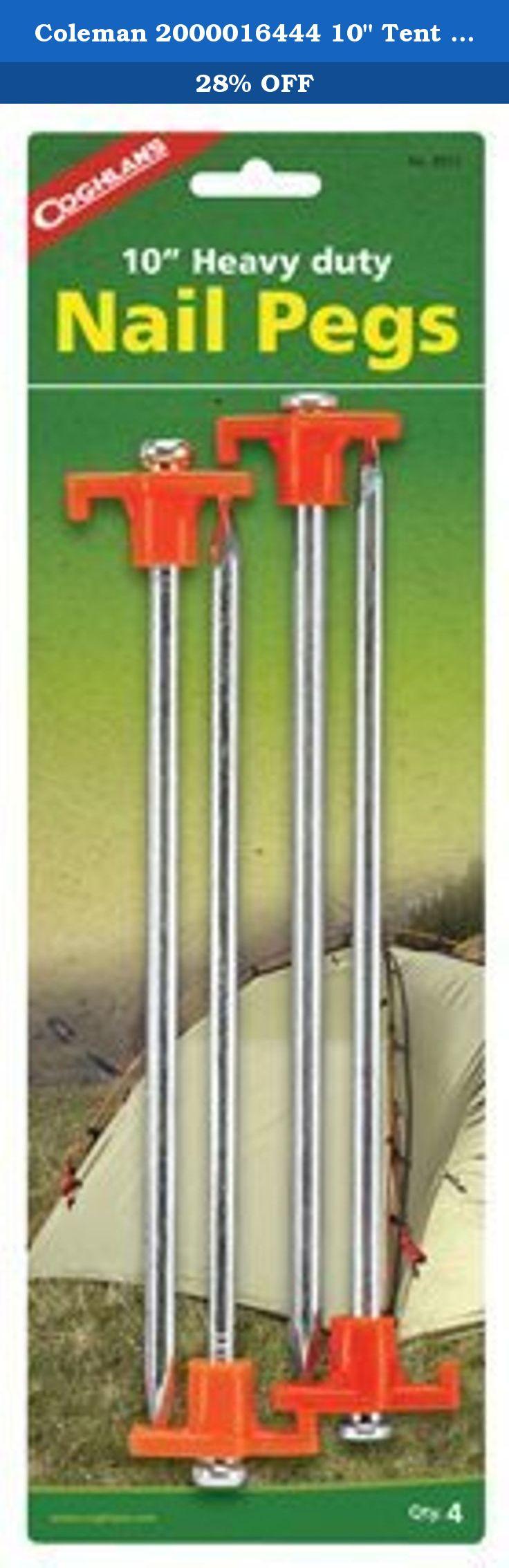 Galvanized Steel Pegs Rust-Free Ram-Pro Tent Garden Stakes Heavy Duty